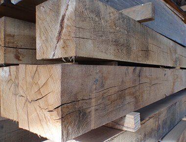 Cut to size air dried oak beams