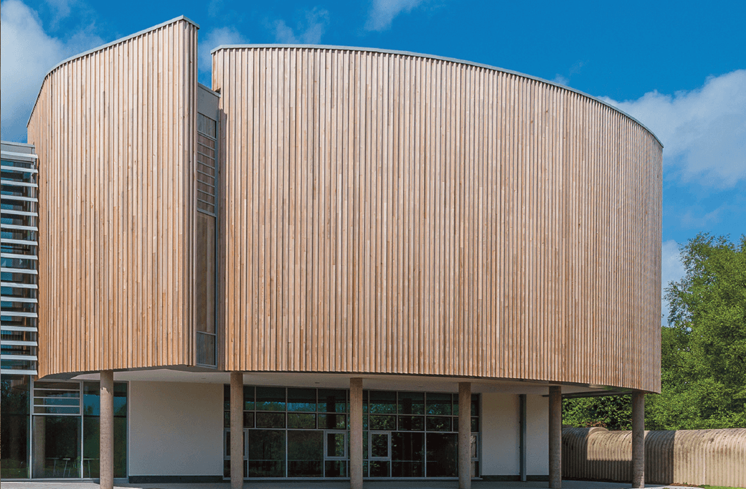 hardwood and softwood timber cladding