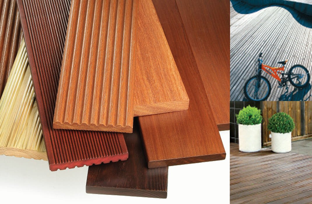 Cut to size timber decking