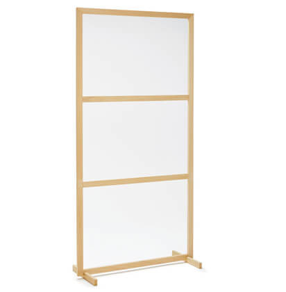 Floorstanding Timber Social Distancing Screen