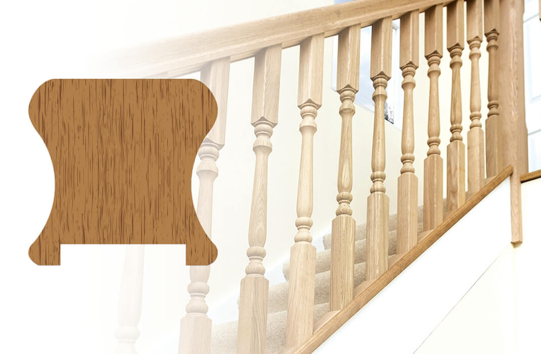 Cut-to-size timber handrail