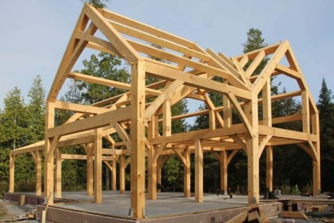 Timber Frame for Home Construction