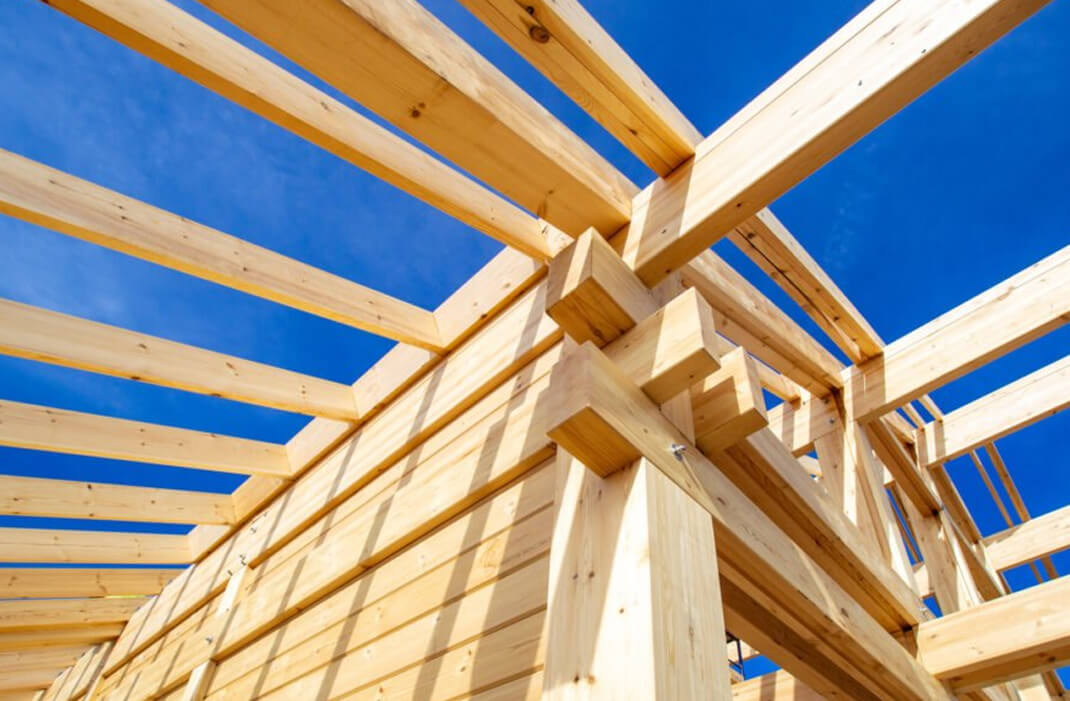 Cut to size wood as a building material